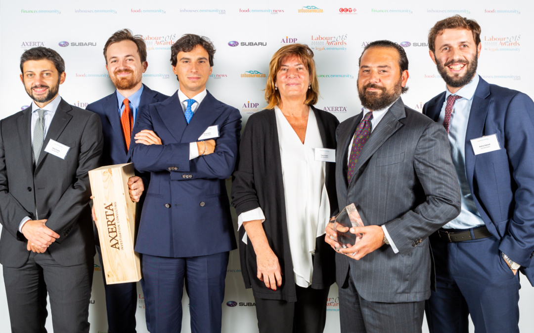 Legalcommunity Labour Awards 2018 – Avvocato dell'Anno Restructuring