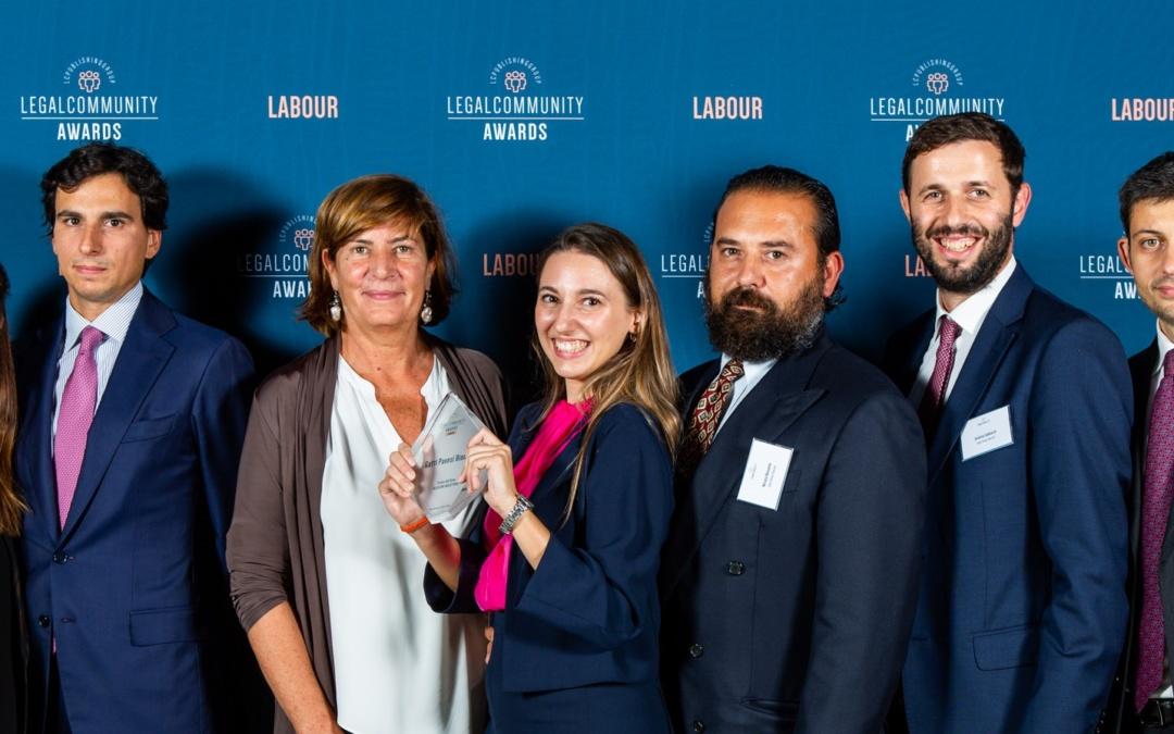 """Legalcommunity Labour Awards 2019 – GPB premiato come """"Studio dell'anno Relazioni Industriali"""""""
